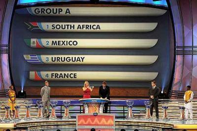 RESULTADOS DEL SORTEO DEL MUNDIAL DE SUDAFRICA 2010 (GRUPO A)
